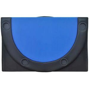 vidaXL Podložka na poker pre 10 hráčov, skladacia, modrá