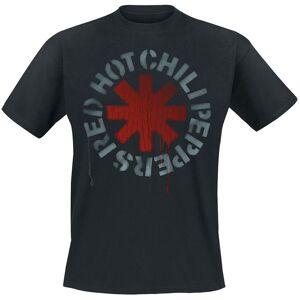 RH Red hot chili peppers - Tričko Stencil - Muž, Unisex, Čierna, XL