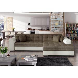 Expedo.sk Rohová rozkladacia sedačka PALERMO, 294x80x196 cm, berlin 04/soft 033 beige, pravá