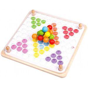 Teddies Mozaika kuličková 63ks dřevo s předlohami v krabici 23x23x4cm