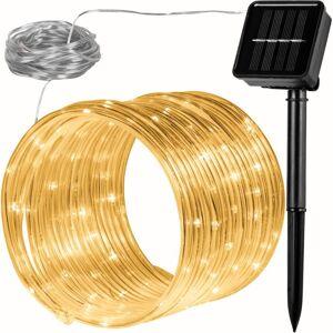 VOLTRONIC® Solárna svetelná hadica - 100 LED teplá biela VOLTRONIC