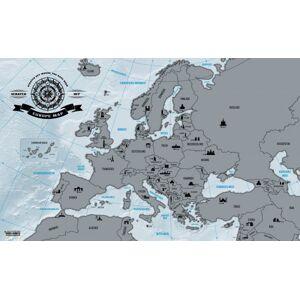 Kokiska Stieracia mapa Európy