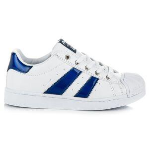 AMERICAN CLUB Parádne bielo-modré detské tenisky