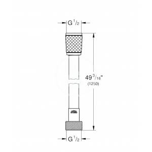 Grohe - Hadice Sprchová hadice Relexaflex, 1250 mm, chrom (28150001)