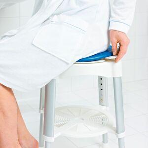 RIDDER - Stolička otočná, nastavitelná výška, biela/modrá A0050401