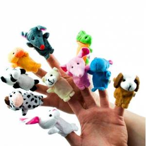 Sun Plyšové bábky na prsty - zvieratká
