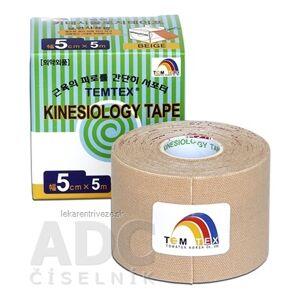 TOWATEK Korea Co., Ltd. TEMTEX KINESOLOGY TAPE TOURMALINE tejpovacia páska, 5 cm x 5 m, béžová 1x1 ks