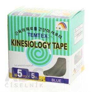 TOWATEK Korea Co., Ltd. TEMTEX KINESOLOGY TAPE tejpovacia páska, 5 cm x 5 m, modrá 1x1 ks