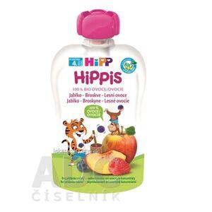 HiPP Gmunden HiPP HiPPis 100% Ovocie Jablko Brosk. Lesné plody kapsička (od ukonč. 4. mesiaca) ovocný príkrm 1x100 g
