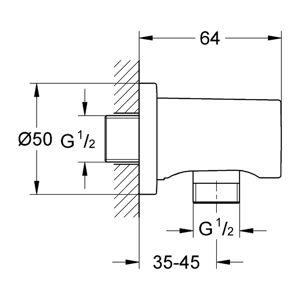 Grohe Rainshower - Nástenné kolienko, leštený nikel 27057BE0