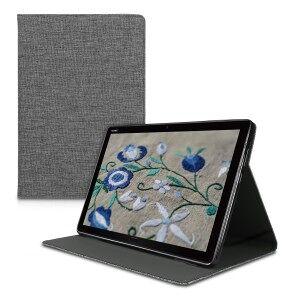 kwmobile Flipové púzdro pre Huawei MediaPad M5 Lite 10 - šedá