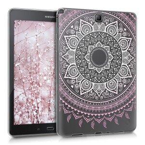 kwmobile Priehľadné púzdro pre Samsung Galaxy Tab A 9.7 T550N / T555N - ružová