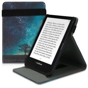 kwmobile Flipové púzdro pre PocketBook Touch Lux 4 / Touch HD 3 / Basic Lux 2 - modrá