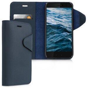kalibri Kožené flipové púzdro pre HTC U11 - modrá