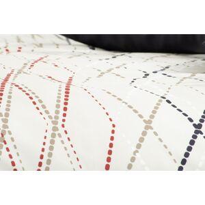 1 Glamonde Kárované obliečky Fiore béžová 70×90 cm 140×200 cm na zips
