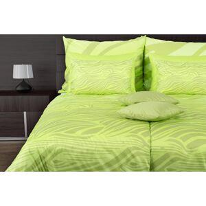 1 Glamonde Vlnkované obliečky Vitalia zelená 70×90 cm 140×200 cm na zips
