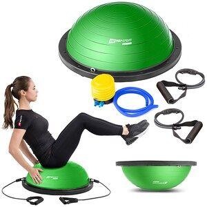 Hop-Sport Balančná podložka s expandérmi Zelená