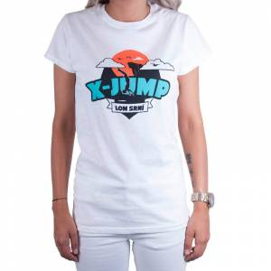 Trenýrkárna Dámske tričko X-jump biele M