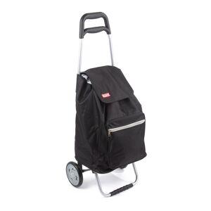 Praktická nákupná taška na kolieskach Cargo - čierna