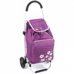 Dizajnová nákupná taška na kolieskach Malaga - fialová