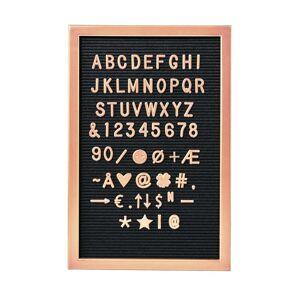 MESSAGE BOARD Doska 45 x 30 cm - ružová zlatá