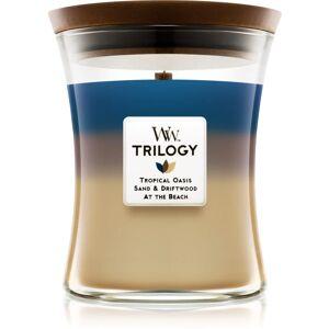 Woodwick Trilogy Nautical Escape vonná sviečka s dreveným knotom 275 g