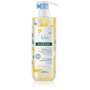 Klorane Bébé Calendula jemný umývací gél pre deti od narodenia s pumpičkou 500 ml