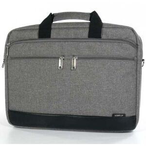 """LOGO Trendy taška na notebook,15,6"""",popruh na rameno,šedá z plátna"""