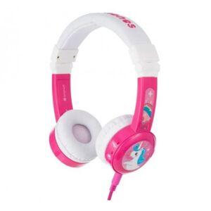 BuddyPhones Slúchadlá cez hlavu BuddyPhones Inflight, ružové