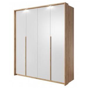 OKAY nábytok Šatníková skriňa Xelo 185 cm (dub zlatý/biela)