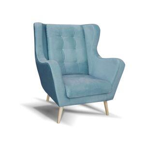 OKAY nábytok Kreslo ušiak Cremona modrá