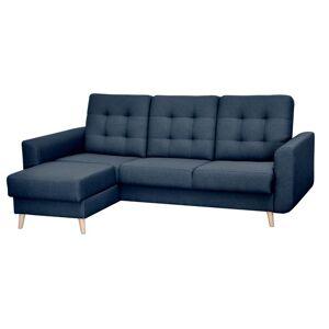OKAY nábytok Rohová sedačka rozkladacia Avanti ľavý roh ÚP modrá
