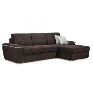OKAY nábytok Rohová sedačka rozkladacia Lina ÚP pravý roh šedá