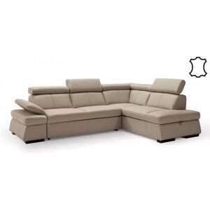 OKAY nábytok Rohová sedačka rozkladacia Malpensa pravý roh ÚP béžová