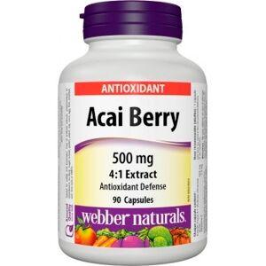 Webber Naturals Acai Berry 500 mg cps 1x90 ks