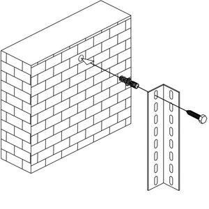 B2B Partner Kotva do steny pre regály fix