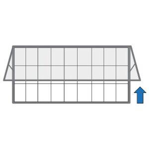 B2B Partner Vonkajšia vitrína s výklopnými dverami, 2000 x 1000 mm