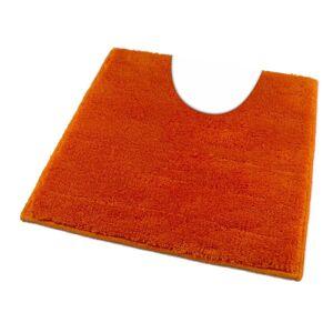 ROUTNER Kúpeľňová predložka UNI COLOR Oranžová 10108 - Oranžová / 60 x 60 cm WC s výkrojom 10108