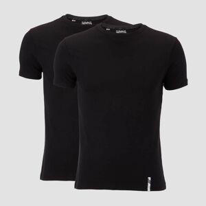 Myprotein 2 Luxe Classic Tričká - Čierne/Čierne - M