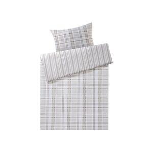 MERADISO® Saténová posteľná bielizeň,  140 x 200 cm  (károvaná / šedá)