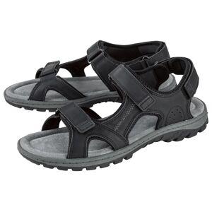 LIVERGY® Pánske sandále s pevnou podrážkou  (44, čierna)