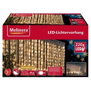 MELINERA® LED svetelná reťaz 2 x 1 m s 8 funkciami (teplé biele svetlo)