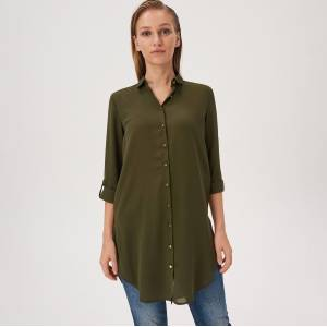 Sinsay - Dlhá košeľa - Khaki