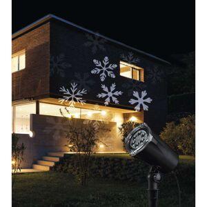 EMOS ZY1936 LED vianočný dekoratívny projektor – biele vločky 4W, IP44