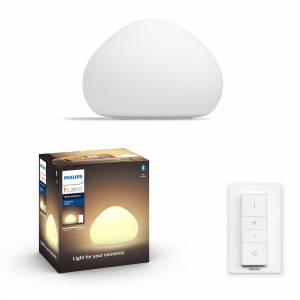 Philips HUE White Ambiance 44401/56/P6 Wellner stolová lampička 1xE27 9.5W/806lm 2200-6500K +SWITCH biela Bluetooth