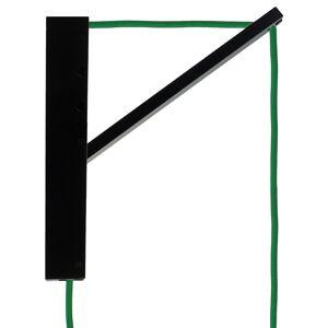 Segula SEGULA Pinocchio nástenné čierne, kábel zelený