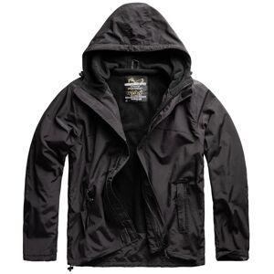 SURPLUS® Textilien Outdoorová vetrovka SURPLUS® Windbreaker Zipper - čierna (Farba: Čierna, Veľkosť: M)