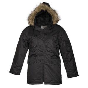 Teesar® (Sturm Handels) Zimná bunda N3B Aljaška - čierna (Farba: Čierna, Veľkosť: S)