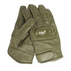 Mil-Tec® (Sturm Handels) Kožené rukavice TACTICAL Mil-Tec®, plastová ochrana - čierne (Farba: Čierna, Veľkosť: L)