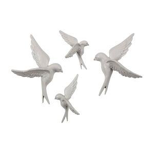 BEPUREHOME Dekorácia Avaler Birds – sada 4 ks